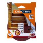 Диск шлифовальный для ЭШМ Dexter P80 125 мм, 5 шт. BN2493