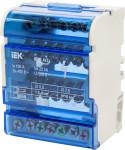 Шина нулевая IEK на DIN-рейку в корпусе ШНК 4х7 3L+PEN