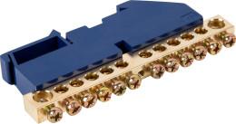 Шина нулевая IEK на DIN-изоляции стойка ШНИ-8х12-12-Д-С