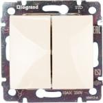 Выключатель Legrand Valena 2-клавишный встроенный 250 В 10 А слоновая кость 774305