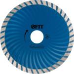 Диск алмазный Fit турбо-волна 125x22.2x2.5 мм сухая и влажная резка 37483