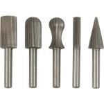 Набор шарошек Fit для фигурных отверстий по металлу HSS сталь, 5 шт. 36476