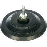 Шлифовальный диск Fit резиновый с липучкой гайка М14 и переходник для дрели 125x10 мм 39624