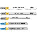 Набор полотен Fit T111C; T101BR; T101AO; T118A; T118B для электролобзика по дереву и металлу, 5 шт. 41011