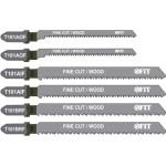 Набор полотен для электролобзика Fit T101BRFx2; T101AOF x2; T101AIF по дереву, пластику и ламинату, 6 шт. 41012