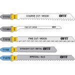 Набор полотен для электроэлектролобзика FIT T111Cx2; T119BOx2; T101Bx2; T118Ax2; T127Dx2 по дереву и металлу, 10 шт. 41016