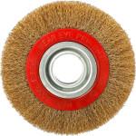 Корщетка-насадка Fit колесо стальная латунированная волнистая проволока 150 мм