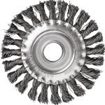 Корщетка-насадка Курс дисковая прямая стальная витая проволока для УШМ 150 мм