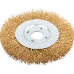 Корщетка-насадка Fit колесо диаметр 22.2 мм стальная латунированная волнистая проволока 125 мм
