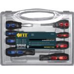 Отвертки Fit Универсал Профи с прорезиненными ручками, 8 шт.