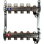 """Коллектор STOUT без расходомеров с клапаном выпуска воздуха и сливом 1"""" 3/4EK-M 4 отвода"""