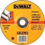 Круг зачистной по металлу Dewalt Industrial 180x22.2x6.3 мм