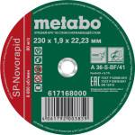 Круг отрезной по металлу Metabo SP-Novorapid 230x22.23x1.9 мм 617168000