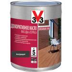 Масло для террас V33 Terrasses матовый антрацит 2.5 л