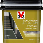 Краска для пола и лестниц V33 Renovation Perfection полуматовая графит 0.75 л