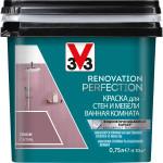Краска моющаяся V33 Renovation Perfection для стен и мебели ванной комнаты пион 0.75 л