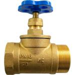 Клапан пожарный КПЛП 50-1 прямой латунь