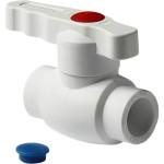 Кран шаровой полипропиленовый Pro Aqua Standard неполнопроходной PP-R белый 25 мм