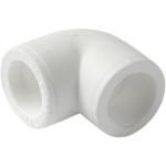Угольник полипропиленовый Pro Aqua 90 градусов PP-R белый 20 мм