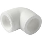 Угольник полипропиленовый Pro Aqua 90 градусов PP-R белый 25 мм