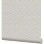 Обои виниловые на флизелиновой основе Malex design Зигзаг 4092-9 бело-серые