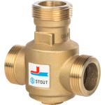 "Термостатический клапан Stout НР 1 1/4x1 1/4x1 1/4"" 10 бар 55 °С"