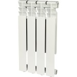 Радиатор алюминиевый Rommer Optima 500 4 секции белый RAL9016 89556