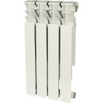 Радиатор алюминиевый Rommer Plus 500 4 секции белый RAL9016 89562