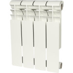 Радиатор биметаллический Rommer Profi BM 350 4 секции белый RAL9016 86629
