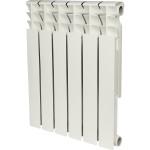 Радиатор биметаллический Rommer Optima Bm 500 6 секций белый RAL9016 89571