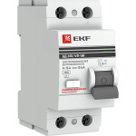Устройство защитного отключения EKF ВД-100 PROxima 40А 100мА 2P АС электромеханический