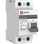 Устройство защитного отключения EKF ВД-100 PROxima 63А 100мА 2P АС электромеханический