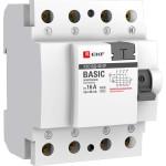 Устройство защитного отключения EKF ВД-100 Basic 40А 30мА 4P АС электронный