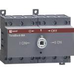 Рубильник реверсивный EKF PROxima TwinBlock 100 A 3P c рукояткой управления