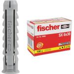 Дюбель распорный Fischer 6x30 мм нейлоновый, 100 шт.