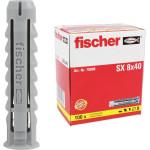 Дюбель распорный Fischer SX 8х40 нейлоновый, 100 шт.
