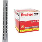Дюбель распорный Fischer SX 8x65 мм с увеличенной глубиной анкеровки, 50 шт.