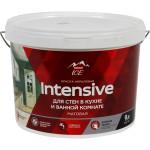 Краска для кухни и ванной комнаты Parade Intensive белая матовая База A 9 л