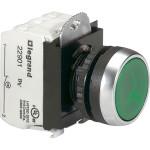 Кнопка Legrand Osmoz НО Н3 зеленый индикатор 12-24 В