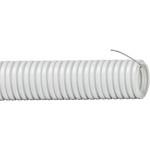 Труба гофрированная IEK ПВХ с зондом 32 мм серая 25 м