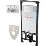 Набор инсталляции для унитаза 4 в 1 Alcaplast AM101/1120+M71+M91 с кнопкой глянцевый хром