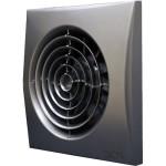 Вентилятор осевой вытяжной с обратным клапаном Era Aura 5C dark gray metall 125 мм