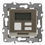 Терморегулятор универс. 230В-Imax16А, IP20, Эра12, шампань СУ
