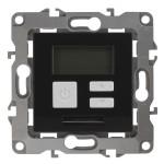 Терморегулятор Эра 12-4111-05 универсальный 230 В 16 А IP20 антрацит