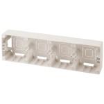 Коробка накладного монтажа Эра 12 4 поста слоновая кость