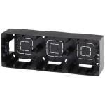 Коробка накладного монтажа Эра 12 3 поста черный
