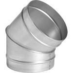 Отвод 45 градусов ф125 мм оцинкованная сталь 0.5 мм
