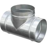 Тройник круглый ф100/ф100/ф100 мм оцинкованная сталь 0.5 мм