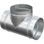 Тройник круглый ф160/ф160/ф160 мм оцинкованная сталь 0.5 мм