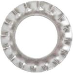 Шайба стопорная DIN 6798A Европартнер с внешними зубьями M6 нержавеющая сталь A2, 150 шт.